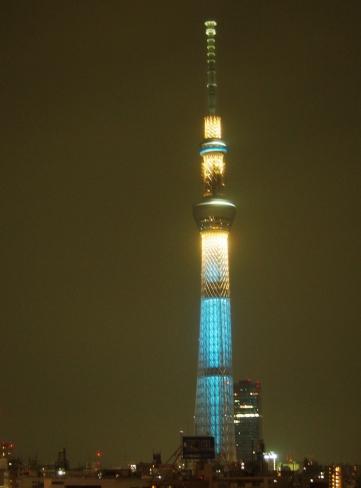 Raumschiff gelandet: der SkyTree in Tokyo bei Nacht