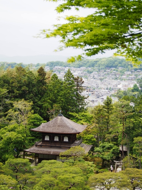 Von vielen Tempeln in Kyoto hat man einen schönen Blick auf die Stadt
