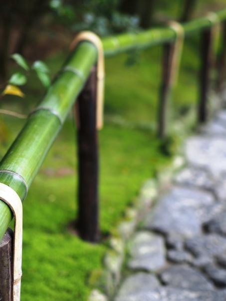 Treppengeländer aus Bambus