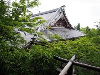 Blick auf das Tempeldach vom Eikan-do, Kyoto