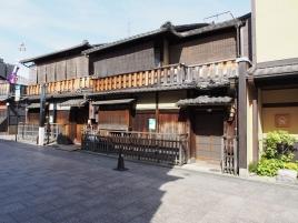 Historische Holzhäuser in Gion, dem alten Geisha-Viertel von Kyoto