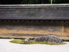 Detail im Steingarten vom Ryoan-ji, Kyoto