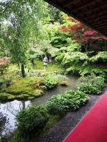 Blick aus dem Tempelrestaurant des Ryoan-ji in Kyoto