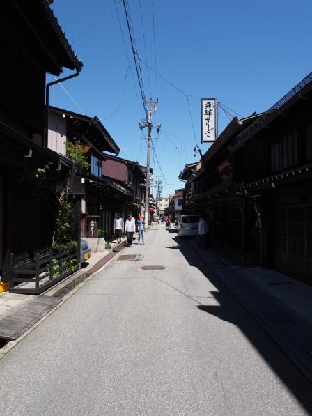 Die Altstadt von Takayama in den japanischen Alpen