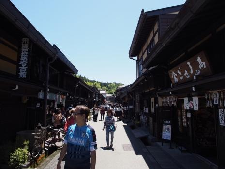 Die Altstadt von Takayama besteht aus alten Holzhäusern aus der Edo-Zeit