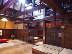 Traditionelle Architektur eines alten Händlerhauses in Takayama